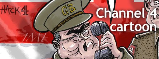 Dad's Army with Gordon Brown and Alastair Darling in the recession © Matt Buck Hack Cartoons