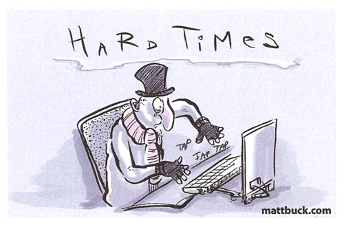 Job losses in journalism cartoon © Matt Buck Hack Cartoons