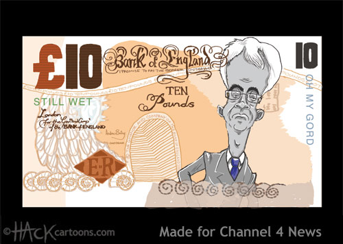 Quantitative Easing Dodgy money cartoon Alastair Darling cartoon caricature © Matt Buck Hack cartoons
