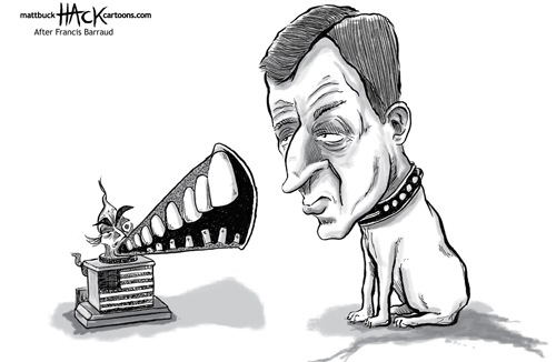 Alastair_Campbell_Cartoon_caricature_Chilcot_Inquiry_Iraq_His_Master's_Voice_HMV_dog