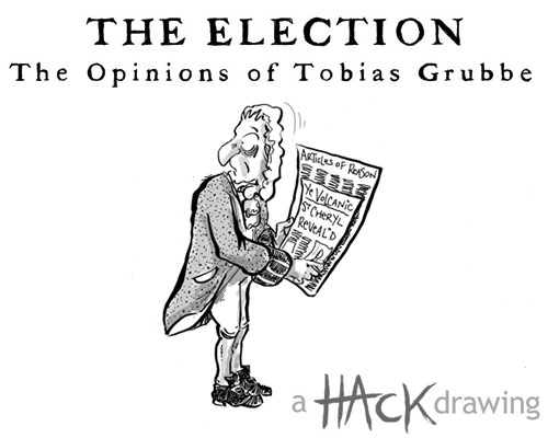 The Opinions of Tobias Grubbe - animated cartoon caricatures © Michael Cross and Matt Buck for http://www.guardian.co.uk and for http://www.journalisted.com/tobias-grubbe
