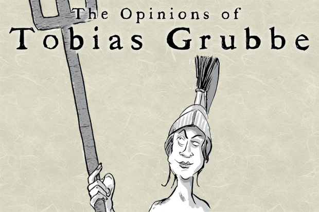 The Opinions of Tobias Grubbe - Animated political cartoon © Michael Cross and Matthew Buck - Hack cartoons