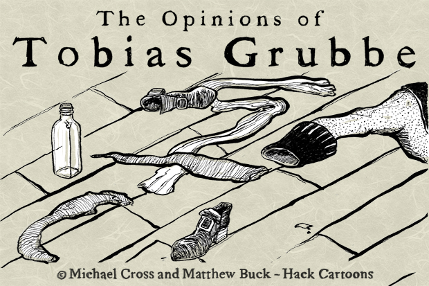 The Opinions of Tobias Grubbe - 19th July 2010 Animated political cartoon © Michael cross and Matthew Buck at http://journalisted.com/tobias-grubbe