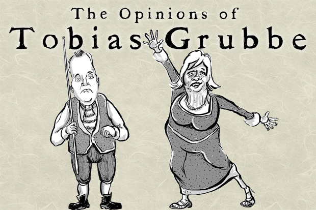 The Opinions of Tobias grubbe - 13th September 2010 animated news cartoon with Anne Widdecombe, snooker, John Higgins, Andy Coulson, The Pope Benedict XVI and Boris Johnson, mayor of London © Michael Cross and Matthew BuckHack Cartoons