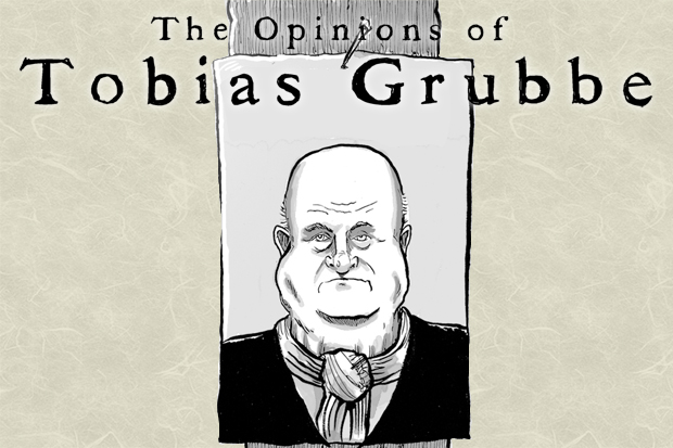 Tobias Grubbe animated news and political cartoon © Michael Cross and Matthew Buck Hack cartoons