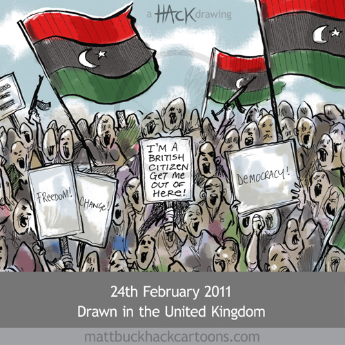 Libya UK citizens airlift cartoon © Matthew Buck Hack cartoons