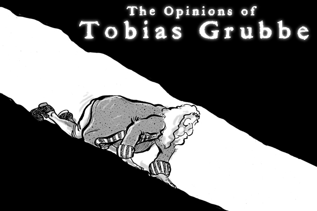 Tobias Grubbe weekly animated news and political cartoon © Michael Cross and Matthew Buck Hack Cartoons