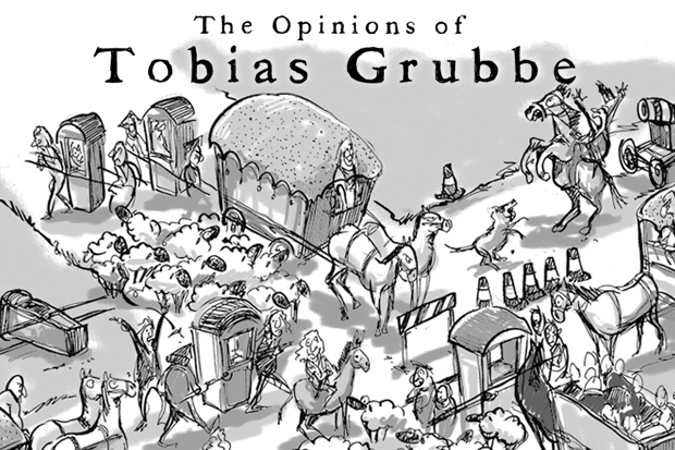 Tobias Grubbe animated cartoon on the Royal Wedding © Michael Cross and Matthew Buck Hack Cartoons