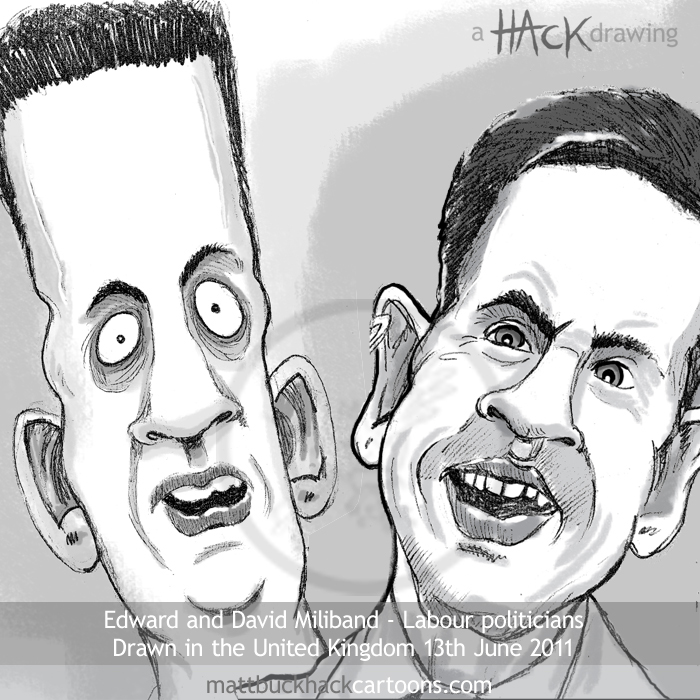 Cartoon: David and Ed Miliband, Labour Politicians © Matthew Buck Hack Cartoons