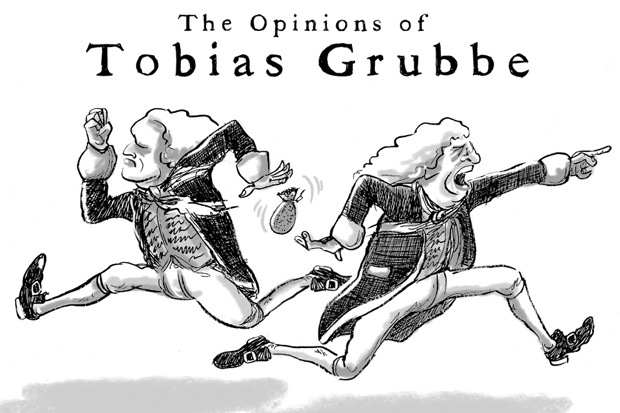 Tobias Grubbe animated cartoon Episode 51 © Michael Cross and Matthew Buck Hack Cartoons