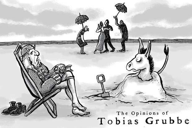 Tobias Grubbe animated news cartoon © Michael Crosss and Matthew Buck Hack Cartoons