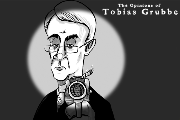 Tobias Grubbe animated cartoon © Michael Cross and Matthew Buck Hack cartoons