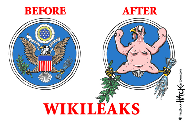 Cartoon: Wikileaks and the Americans © Matthew Buck Hack Cartoons