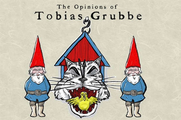 Tobias Grubbe animated cartoon for 12th September 2011 © Michael Cross and Matthew Buck Hack Cartoons