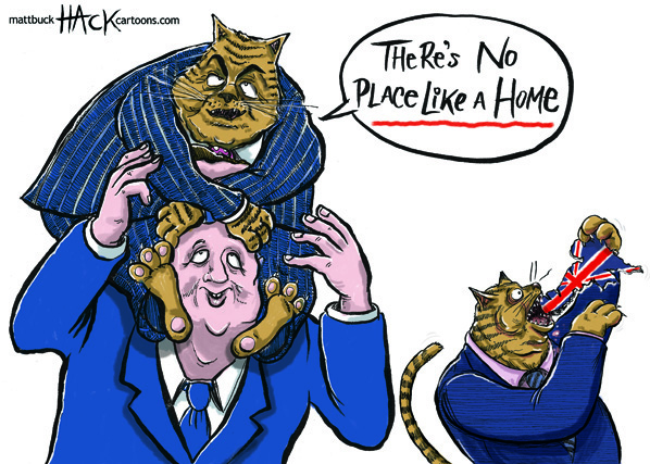 Cartoon: UK homes and houses shortage © Matthew Buck Hack Cartoons