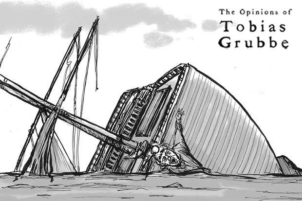 Cartoon: Tobias Grubbe episode 23rd January 2012