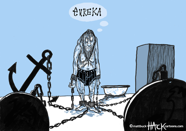 Cartoon: The second Greek bailout © Matthew Buck Hack Cartoons