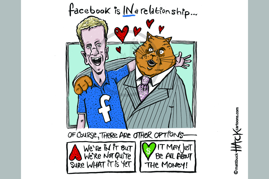 Cartoon: Facebook makes a fat cat sale © Matthew Buck Hack Cartoons