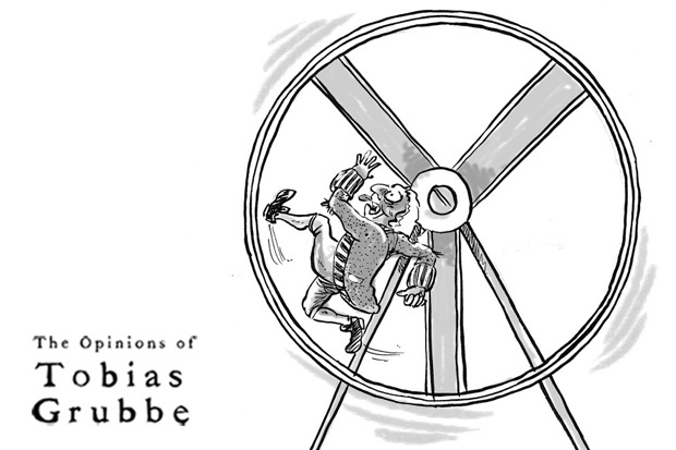 Animated cartoon: Tobias Grubbe - 6th February 2012 © michael Cross and Matthew Buck Hack Cartoons