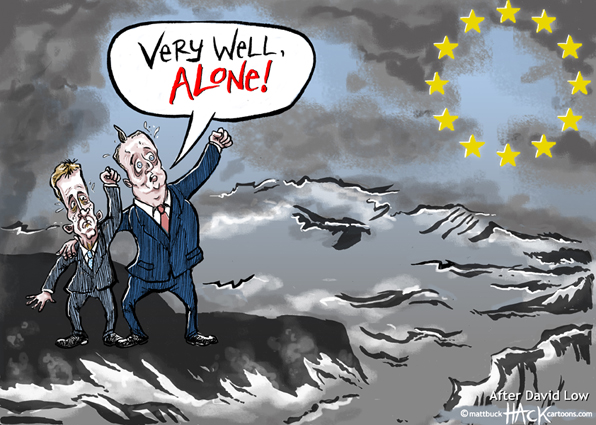 Cartoon: David Cameron speaks on Europe and the Euro © Matthew Buck Hack Cartoons