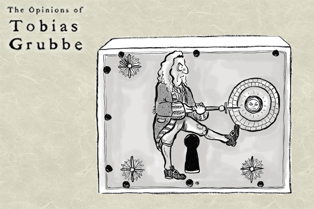 Animated cartoon: The Opinions of Tobias Grubbe Episode 104 © Michael Cross and Matthew Buck Hack Cartoons