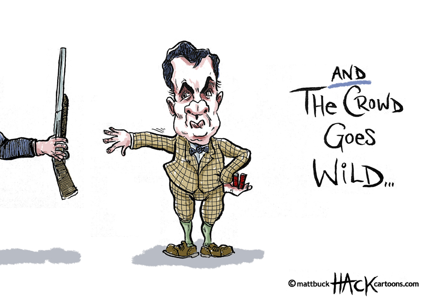 Cartoon: George Osborne at the London 2012 Paralympics © Matthew Buck Hack Cartoons