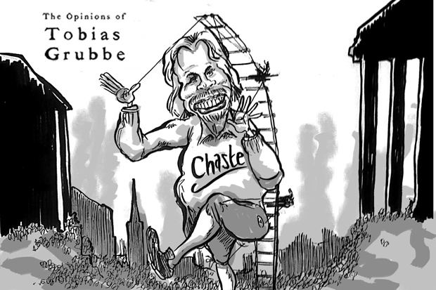 Cartoon: Richard Branson of Virgin and the West Coast Mainline - Tobias Grubbe 10th September 2012 © Matthew Buck Hack Cartoons and Michael Cross