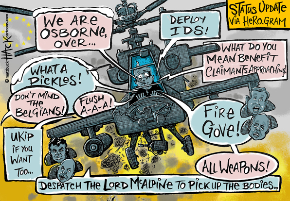 Cartoon: Prince Harry has returned to the UK - a land fit for heroes© Matthew Buck Hack Cartoons