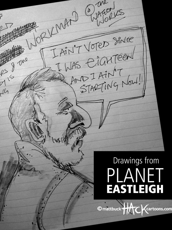 Drawnalism: Non-Voter at the Eastleigh by-election © Matthew Buck Hack Cartoons
