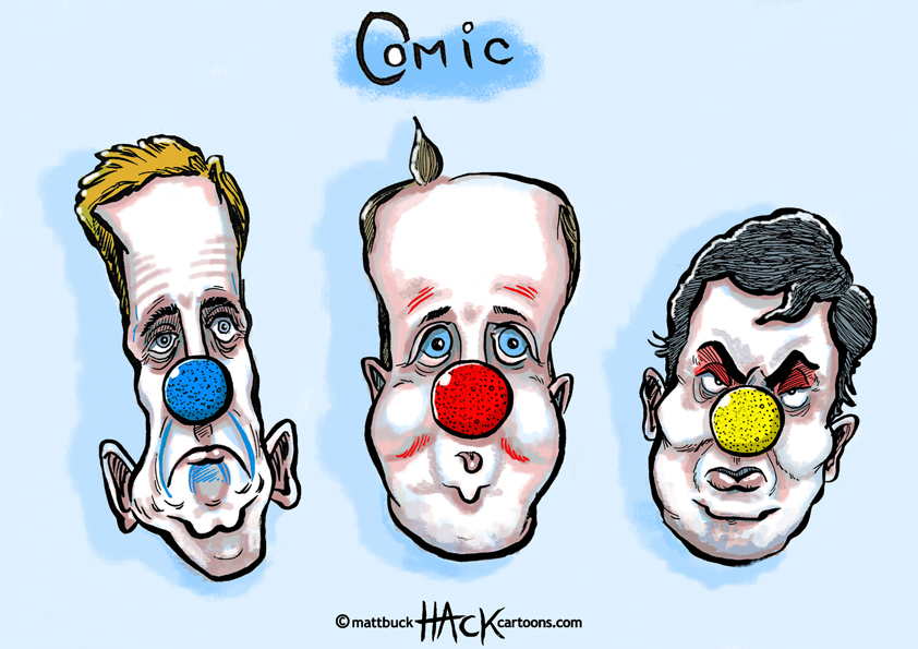 Cartoon: Comic Relief Red Nose Day © Matthew Buck Hack Cartoons