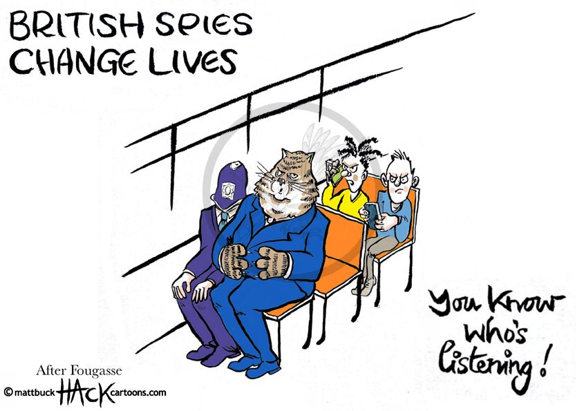 Cartoon_British_Spies_27_06_13 © Matthew Buck Hack Cartoons for http://tribunecartoons.com