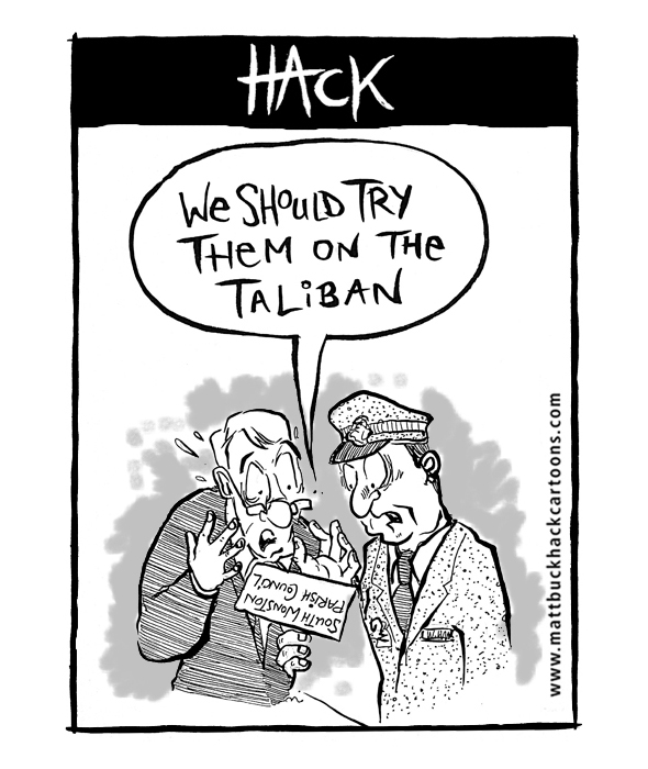 Cartoon_The_Parish_Council_and_the_MoD–©_Matthew Buck Hack Cartoons for Hampshire Chronicle
