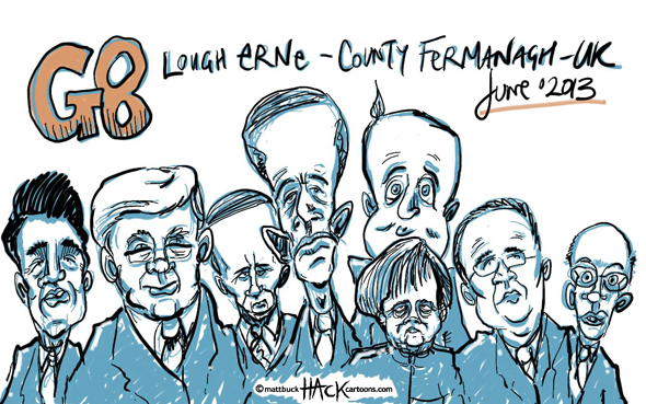UK_G8_Leader_Attendees_Sketchbook © Matthew Buck Hack Cartoons