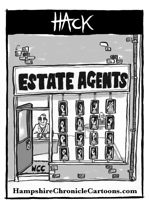 Cartoon_Estate_Agents_and_the_Councils © Matthew Buck hack Cartoons for Hampshire Chronicle