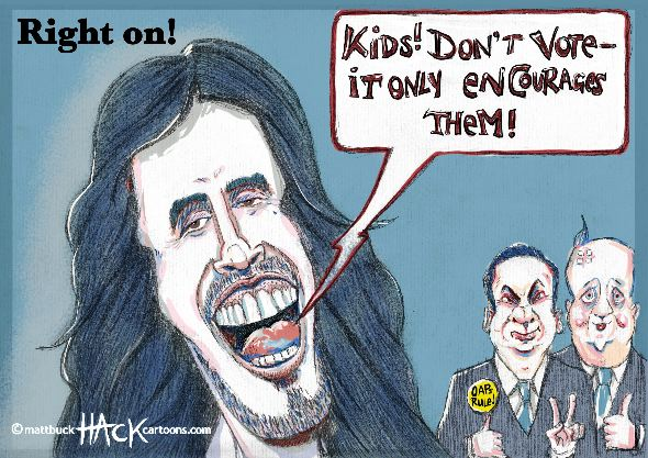 Cartoon-to_vote_or_not_to-vote-with-Russell_Brand©–Matthew–Buck–Hack–Cartoons–For–tribunecartoons.com