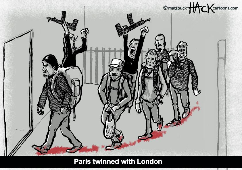 Cartoon_Paris_and_London_Terrorism_09_01_15_©_Matthew_Buck_Hack_Cartoons